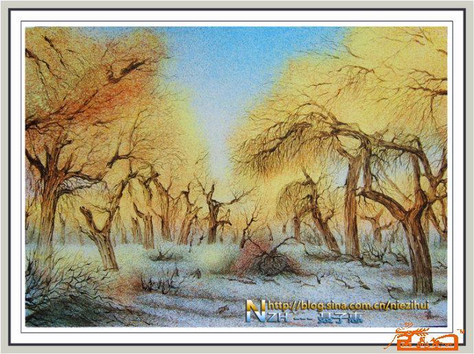 油画名家 聂子惠 国际艺术席位 胡杨秋色 09
