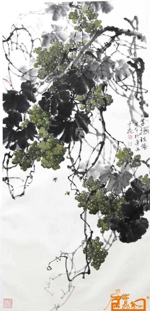 于飞-于飞写意葡萄-淘宝-名人字画-中国书画交
